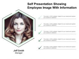 Self Presentation Showing Employee Image With Information