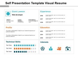 Self Presentation Template Visual Resume Powerpoint Layout