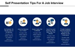 Self Presentation Tips For A Job Interview Powerpoint Presentation