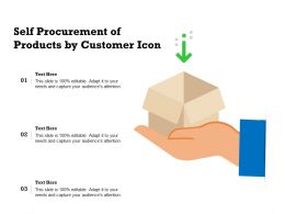 Self Procurement Of Products By Customer Icon
