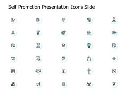 Self Promotion Presentation Icons Slide Ppt Powerpoint Presentation File Guide