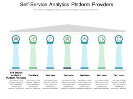 Self Service Analytics Platform Providers Ppt Powerpoint Presentation Show Themes Cpb