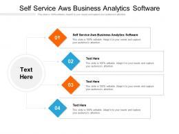 Self Service Aws Business Analytics Software Ppt Powerpoint Presentation Portfolio Sample Cpb