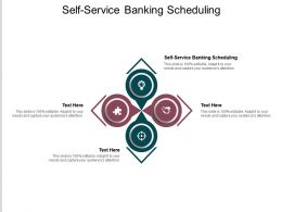 Self Service Banking Scheduling Ppt Powerpoint Presentation Summary Demonstration Cpb