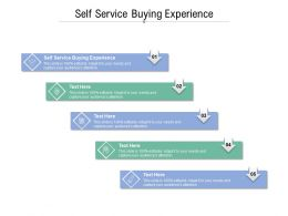 Self Service Buying Experience Ppt Powerpoint Presentation Infographic Template Cpb