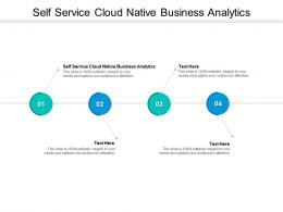 Self Service Cloud Native Business Analytics Ppt Powerpoint Presentation File Guidelines Cpb