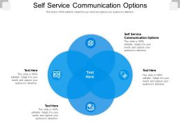 Self Service Communication Options Ppt Powerpoint Presentation Styles Clipart Images Cpb