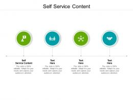 Self Service Content Ppt Powerpoint Presentation Model Good Cpb