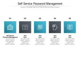 Self Service Password Management Ppt Powerpoint Presentation Portfolio Elements Cpb