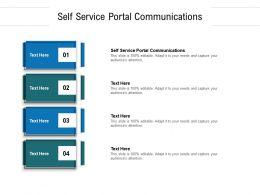 Self Service Portal Communications Ppt Powerpoint Presentation Show Brochure Cpb