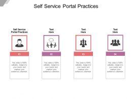 Self Service Portal Practices Ppt Powerpoint Presentation Inspiration Portfolio Cpb