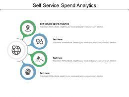 Self Service Spend Analytics Ppt Powerpoint Presentation Styles Designs Download Cpb