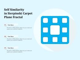 Self Similarity In Sierpinski Carpet Plane Fractal