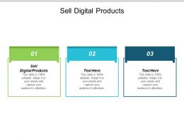 Sell Digital Products Ppt Powerpoint Presentation Professional Template Cpb