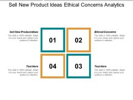 Sell New Product Ideas Ethical Concerns Analytics Business Intelligence Cpb