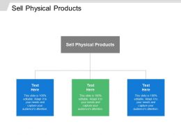 Sell Physical Products Ppt Powerpoint Presentation File Picture Cpb