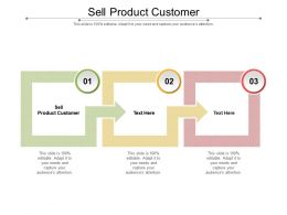 Sell Product Customer Ppt Powerpoint Presentation Ideas Files Cpb