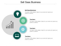 Sell Saas Business Ppt Powerpoint Presentation Styles Examples Cpb