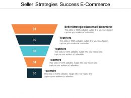 Seller Strategies Success E Commerce Ppt Powerpoint Presentation Outline Clipart Cpb
