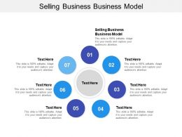 Selling Business Business Model Ppt Powerpoint Presentation Model Graphics Pictures Cpb