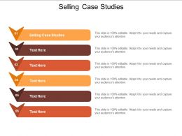 Selling Case Studies Ppt Powerpoint Presentation Inspiration Objects Cpb