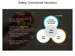 Selling Commercial Insurance Ppt Powerpoint Presentation Model Outfit Cpb