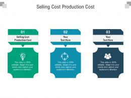 Selling Cost Production Cost Ppt Powerpoint Presentation Infographics Diagrams Cpb
