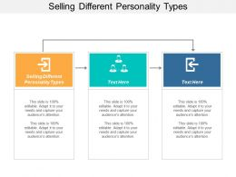 Selling Different Personality Types Ppt Powerpoint Presentation Icon Ideas Cpb