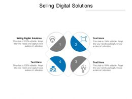 Selling Digital Solutions Ppt Powerpoint Presentation Slides Mockup Cpb