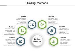 Selling Methods Ppt Powerpoint Presentation Styles Slide Cpb