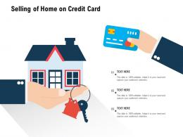 Selling Of Home On Credit Card