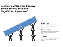 Selling Point Operate And Improve Select Service Provider Negotiation Agreement