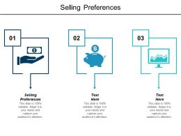 Selling Preferences Ppt Powerpoint Presentation Infographics Ideas Cpb
