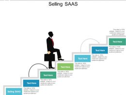 Selling SAAS Ppt Powerpoint Presentation Styles Display Cpb
