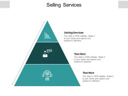 Selling Services Ppt Powerpoint Presentation Infographic Template Visuals Cpb