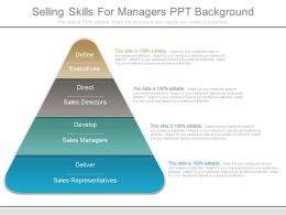 Selling Skills For Managers Ppt Background