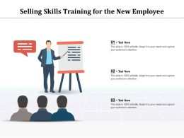 Selling Skills Training For The New Employee