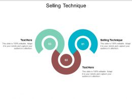 Selling Technique Ppt Powerpoint Presentation Show Inspiration Cpb