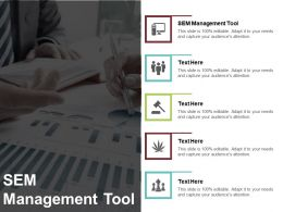 SEM Management Tool Ppt Powerpoint Presentation Layouts Design Templates Cpb