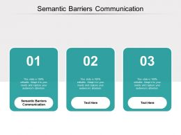 Semantic Barriers Communication Ppt Powerpoint Presentation File Cpb