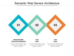 Semantic Web Service Architecture Ppt Powerpoint Presentation Model Background Images Cpb
