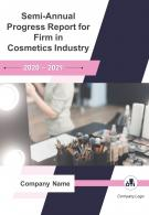 Semi Annual Progress Report For Firm In Cosmetics Industry PDF DOC PPT Document Report Template