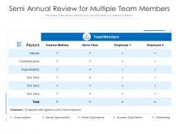 Semi Annual Review For Multiple Team Members