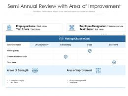 Semi Annual Review With Area Of Improvement