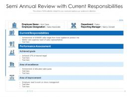 Semi Annual Review With Current Responsibilities
