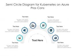 Semi Circle Diagram For Kubernetes On Azure Pros Cons Infographic Template