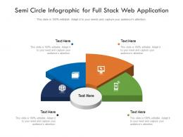 Semi Circle For Full Stack Web Application Infographic Template
