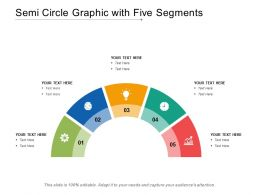 Semi Circle Graphic With Five Segments