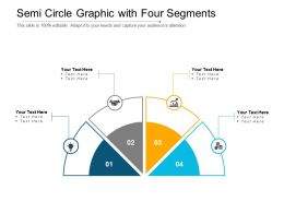 Semi Circle Graphic With Four Segments