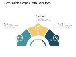 Semi Circle Graphic With Gear Icon